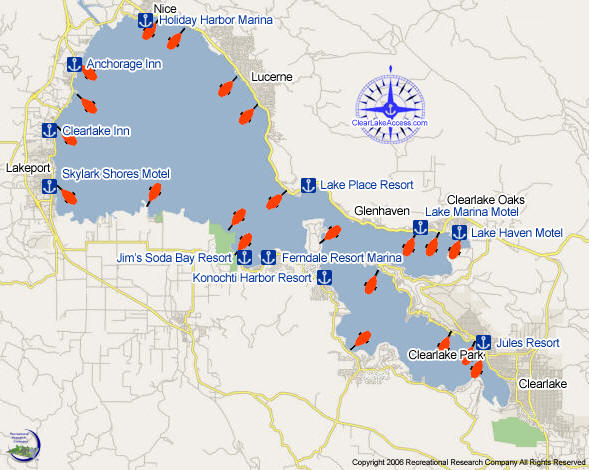 Clear Lake Map - Clear Lake California